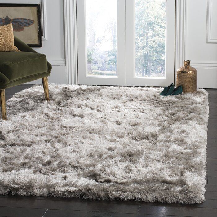 Morrell Shag Hand Tufted Light Gray Area Rug In 2020 Light Grey