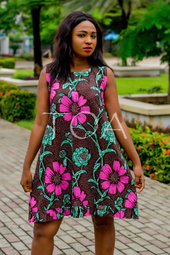 Simple Ankara Shift Dress The Sade Shift Dress Ankara
