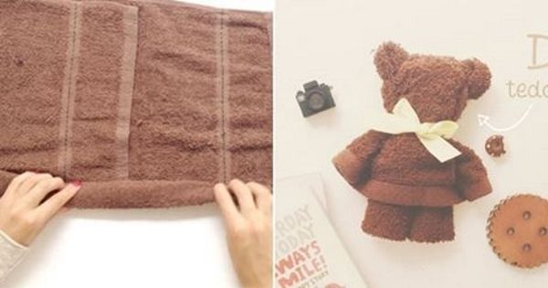 DIY Towel Teddy Bear | UsefulDIY.com