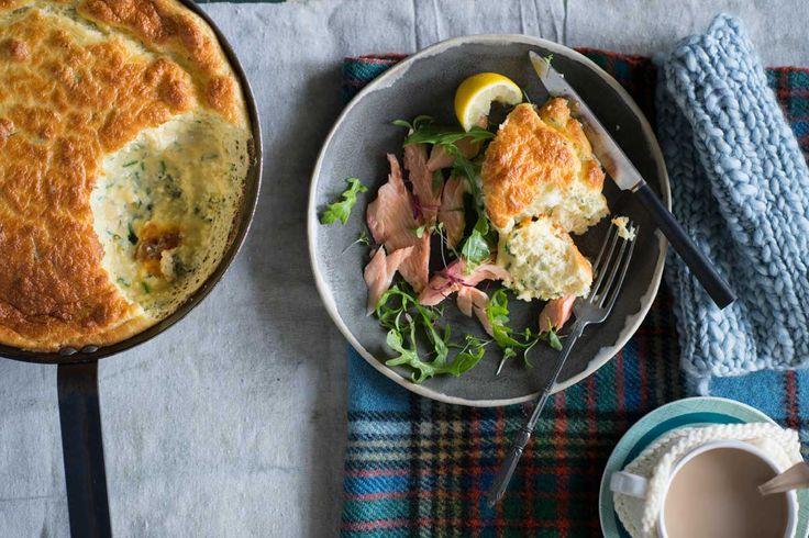 Herbed ricotta soufflé omelette