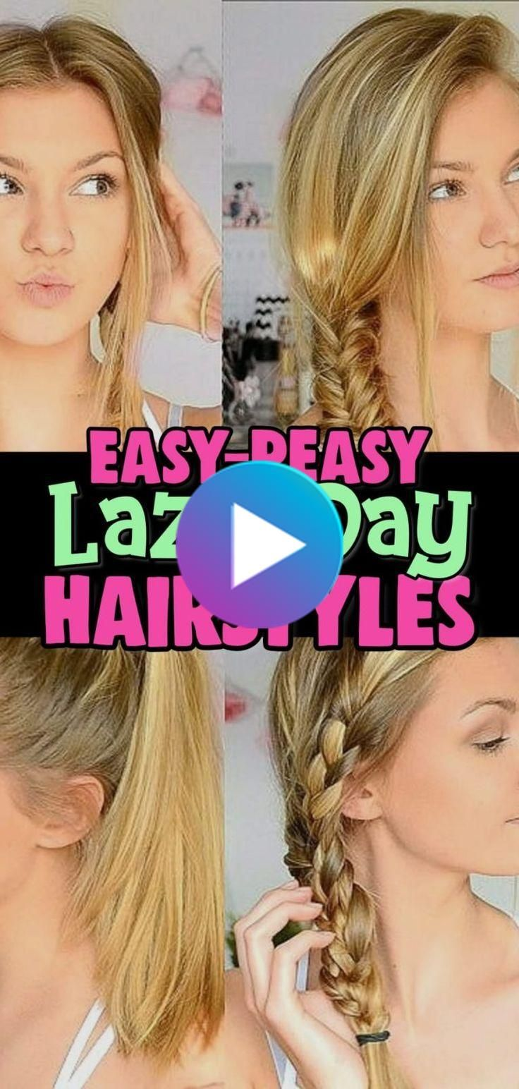 10 Easy Lazy Girl Hairstyle Ideas Step By Step Video Tutorials For Lazy Day Running Late Quick Hairstyles Clever Diy Ideas Lazy Girl Hairstyles Easy Everyday Hairstyles Hair Styles
