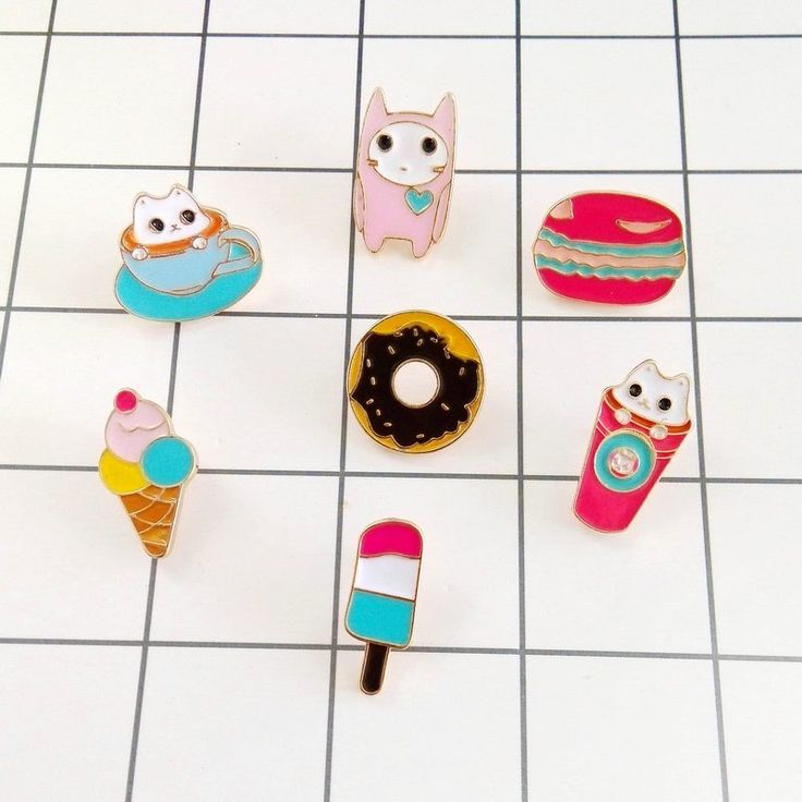 Free shipping enamel Cute tea cup cat ice cream donut brooch collar brooch women badges Fashion jewelry wholesale Collar pin