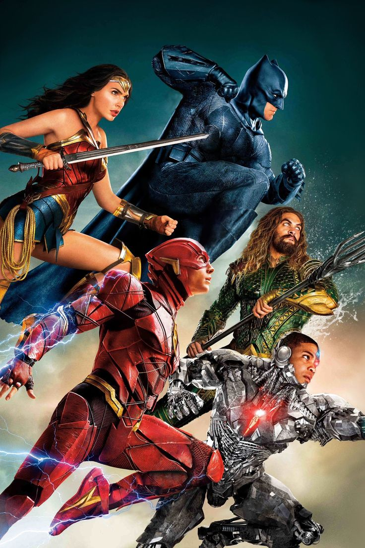 Drawn figures of the Justice League designed to more closely resemble the upcoming movie, though Wonder Woman look mostly the same, not like the Gal Gadot adaptation.