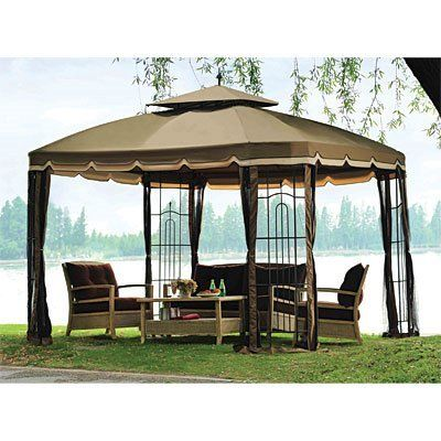 Replacement Canopy and Netting Set for the Bay Window 10' x 12' Sold at Big Lots by Garden Winds. $199.99
