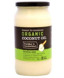 Honest To Goodness Organic Coconut Oil Purified And Deodorised 1litre