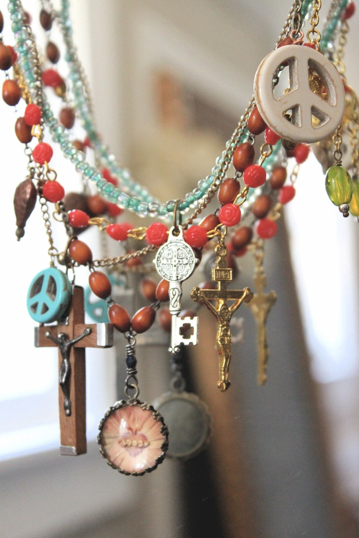 Vintage Rosary Necklace.