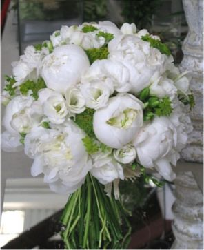 La boda/Ramo/Ramo en peonías blancas/