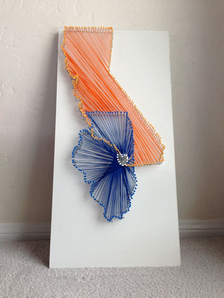 Nail string art states of california and illinois my hometown nail string art states of california and illinois my hometown san diego and my college town urbana champaign in my school colors orange and bl prinsesfo Image collections