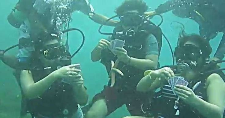 The Ultimate Poker Challenge: Play Poker and Drink Whisky Underwater