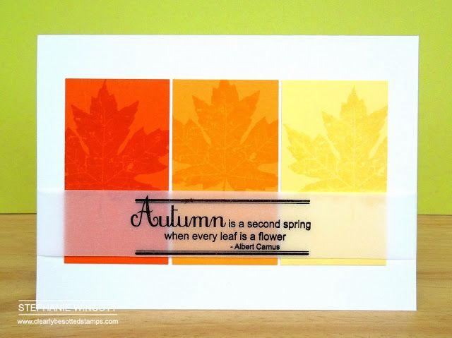 Autumn Flowers; Framed Sentiments