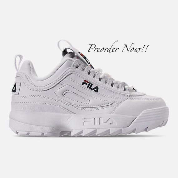 finest selection 62a08 f040f Swarovski Women s Fila Disruptor 2 Premium White Sneakers Blinged Out With  Authentic Clear Swarovski Crystals Custom