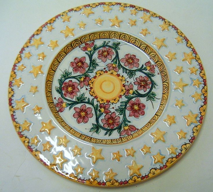 Piatto da portata in maiolica.Per Profiteroles,MontBlan32cm diametro