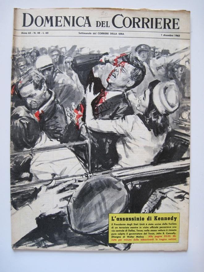L'assassinio di Kennedy su 'La domenica del Corriere'