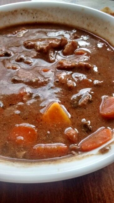 beef stew meat ,which I seared in a hot skillet. Just do a quick sear ...