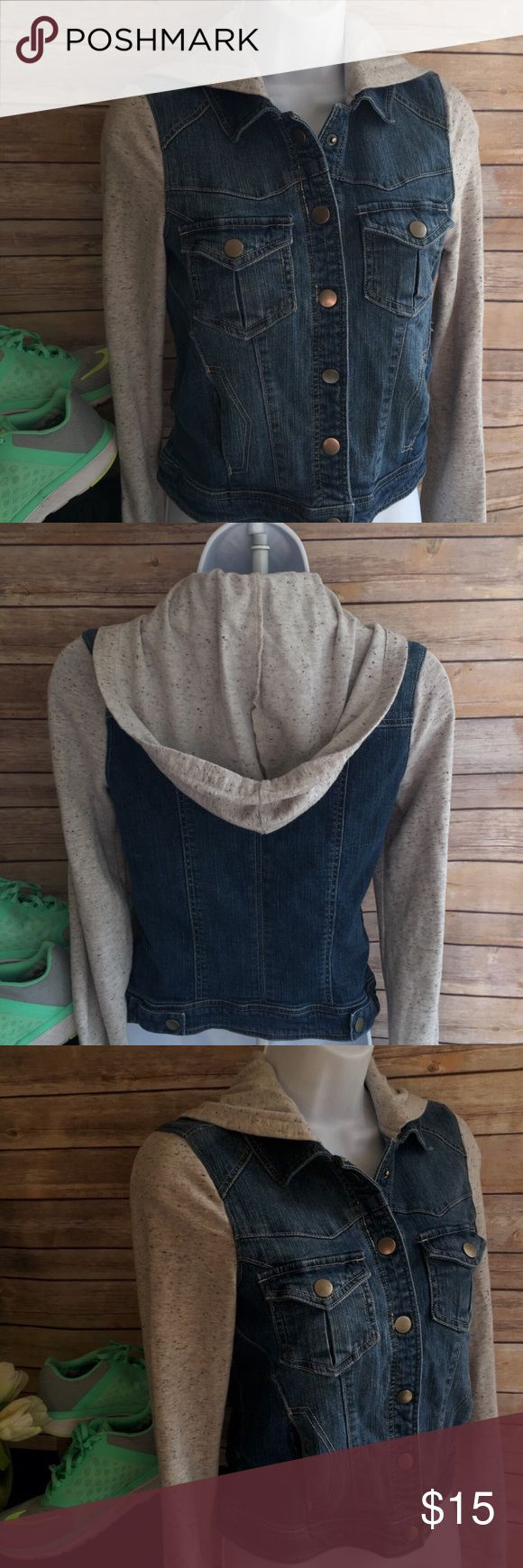 NWOT Hooded Jean and Cotton jacket❄ NWOT Hooded Jean and Cotton jacket❄ by Love FIRE 🔥 SIZE XS love FIRE Jackets & Coats