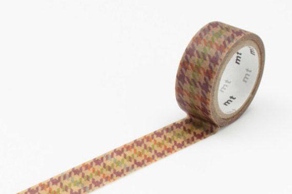 Mt nastro adesivo - fab mt di nastro di carta di cera, Chidori Check, 15 mm x 3 m (MTWX1P02)