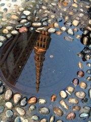 Water reflection of La Mole!! Turin, Italy