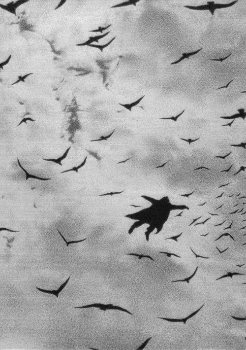 Illustration by Quint Buchholz - Der Flug (The Flight), 1987.