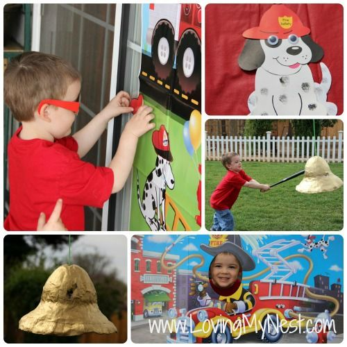 Other Activites DIY Fire Truck Birthday Party