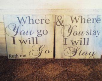 Plank Style Ruth 1:16 15x15 handmade