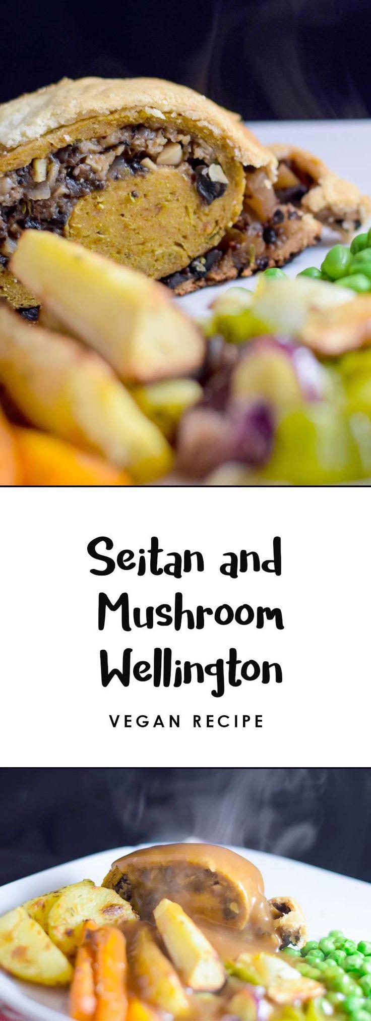 Seitan and Mushroom Vegan Wellington