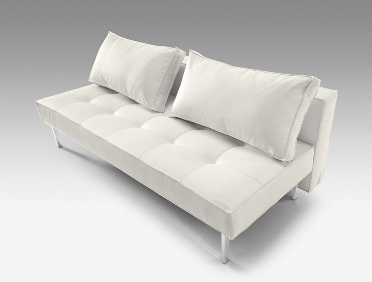white leather pull out sofa bed