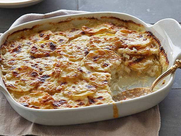 Scalloped Potatoes Au Gratin Recipe : Ellie Krieger : Food Network - FoodNetwork.com