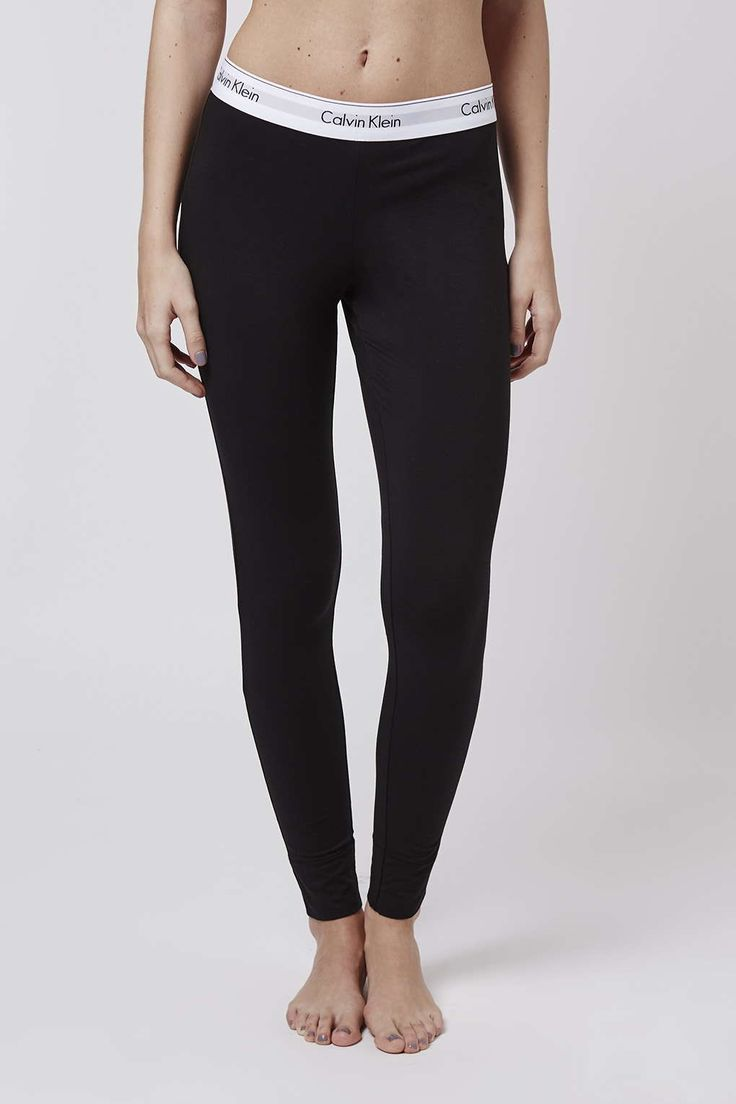 Photo 2 of Modern Cotton Black Leggings by Calvin Klein