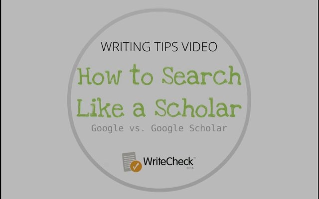What is the difference between Google and Google Scholar? by Turnitin. Learn why Google Scholar may be a better option when doing research for an academic paper. Writing tip provided by WriteCheck plagiarism checker and grammar checker, www.writecheck.com