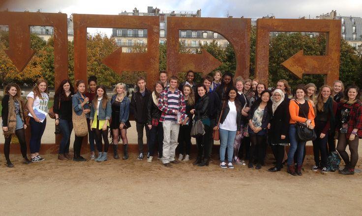 Group Shot, Silverdale school Art Department, Paris 2013