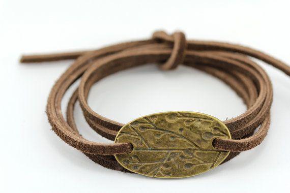 Leather Wrap Bracelet  English Saddle Tie On by ArtisanTree, $14.00