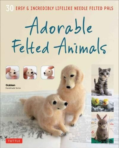 Create cute and realistic felted animals with this fun and easy-to-follow needle…
