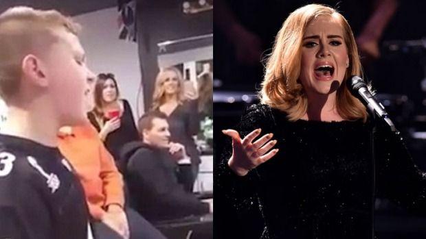 Little boy sings 'Hello' better than Adele http://www.essentialkids.com.au/news/celebrities/little-boy-sings-hello-better-than-adele-20160204-gmlbv7