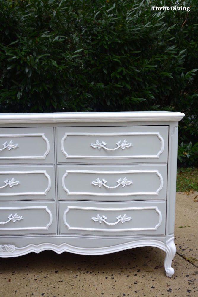 BEFORE & AFTER: DIY Dresser Makeover: French Provincial Dresser