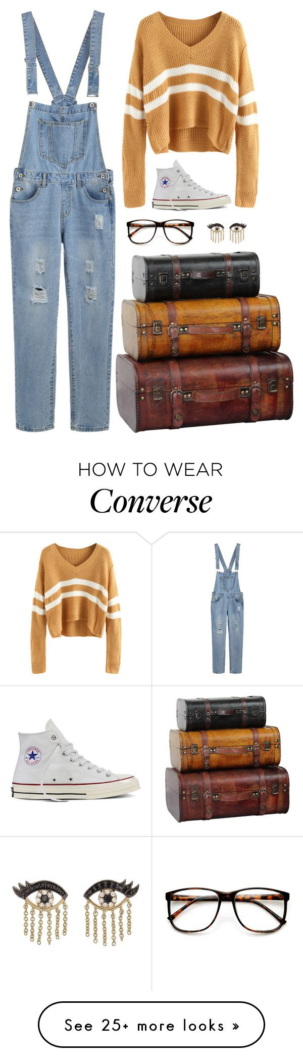 """""""Untitled #1114"""" by samantha-hannum on Polyvore featuring Converse, ZeroUV and Sydney Evan"""
