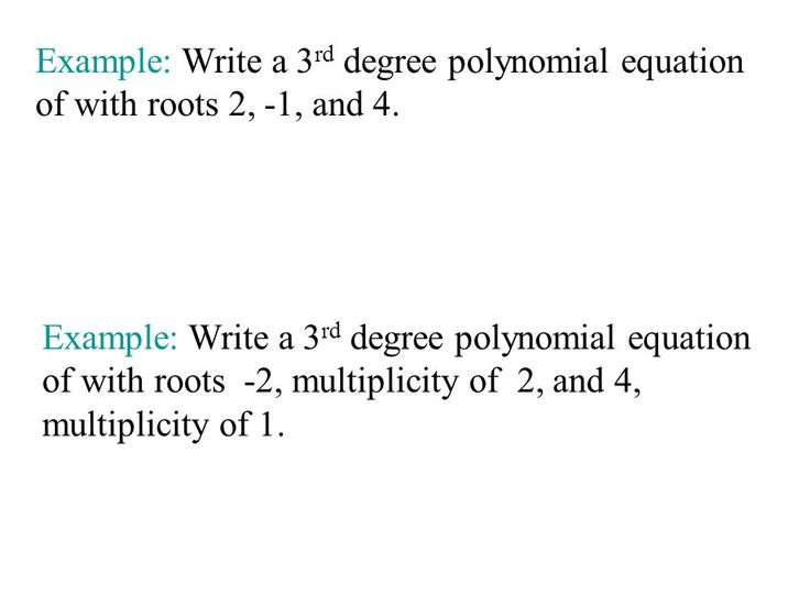 Write A Third Degree Polynomial Equation - The best estimate professional
