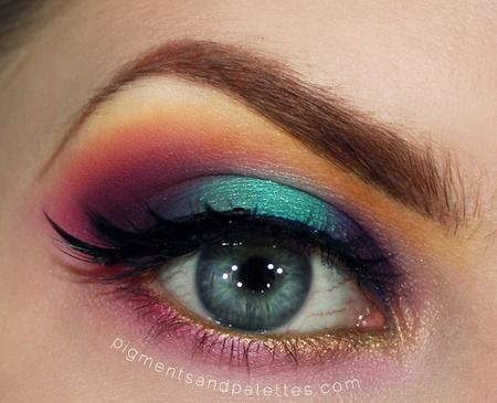 Rainbow Makeup - Strictly Sugarpill http://www.makeupbee.com/look.php?look_id=77457