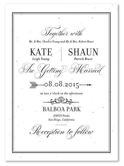 classic heraldry plantable unique wedding invitationswedding - Plantable Wedding Invitations