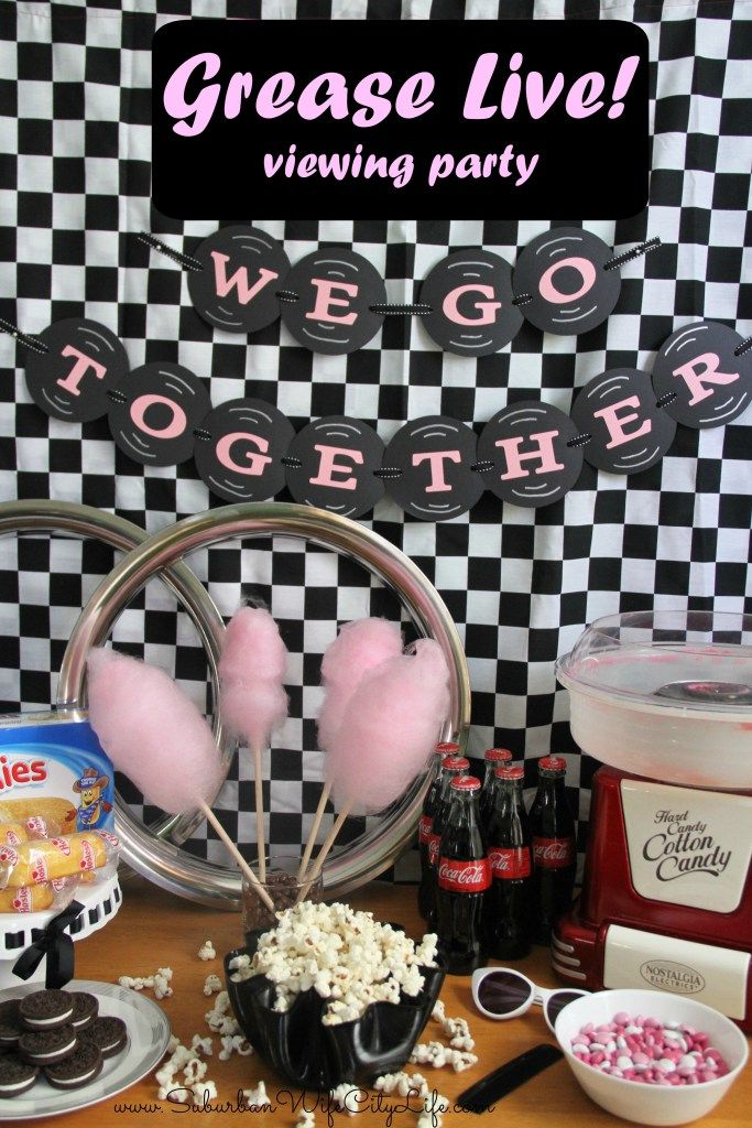 Grease Live! viewing party ideas