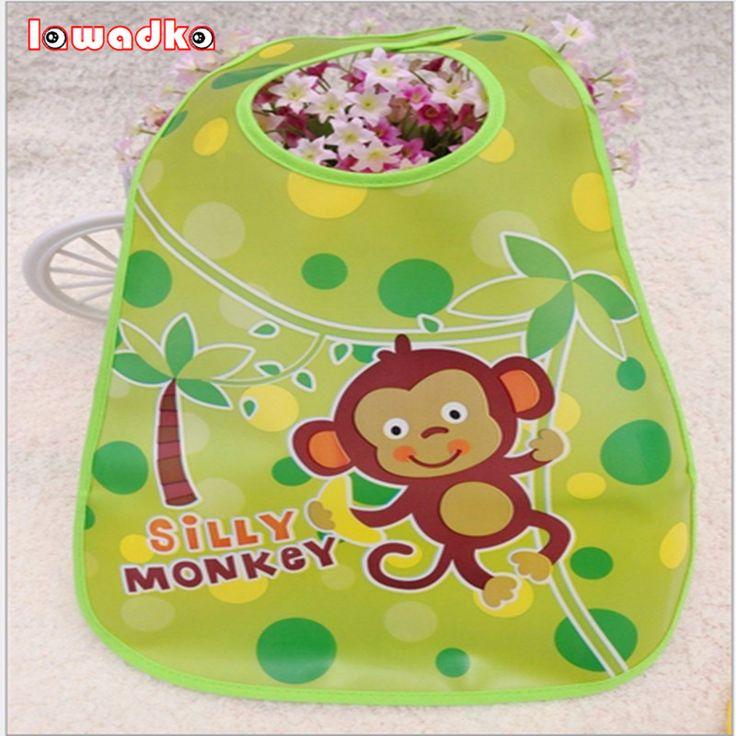 Lawadka Adjustable Baby Bandana Bibs EVA Plastic Waterproof Lunch Bibs Infants Cartoon Bibs Baberos  Summer Style