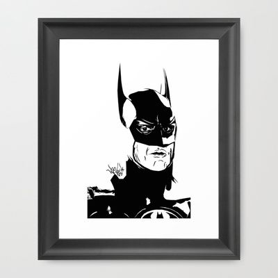 I'm Batman Framed Art Print by Vee Ladwa - $42.00