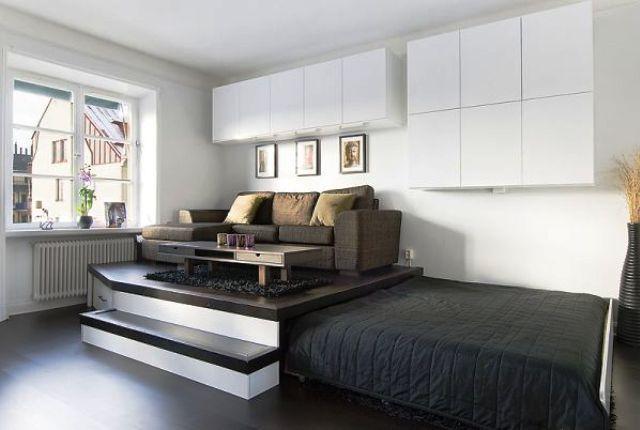 двуспальная выдвижная кровать подиум в однокомнатной квартире: 4 тыс изображений…