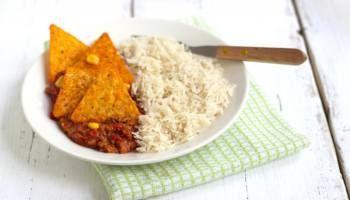 Lekker en Snel: rijstgerecht met gehakt en tortillachips