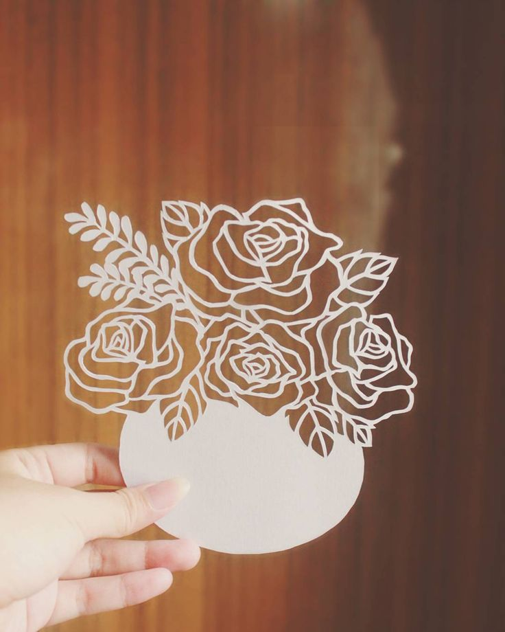 """""Love is like a flower-you've got to let it grow."" John Lennon  Happy Valentine day bud!  #paper #papercut #papercutting #paperart #paperartistcollective…"""