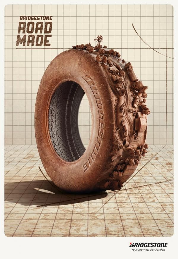 The Print Ad titled OFF ROAD was done by J. Walter Thompson Sao Paulo advertising agency for product: Bridgestone Tyres (brand: Bridgestone) in Brazil. It was released in the Mar 2013.