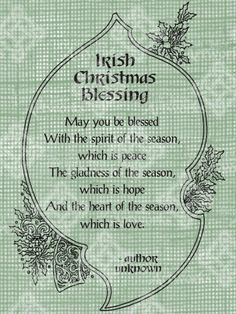 irish christmas blessings quotes - Google Search