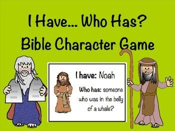This game is perfect for children of all ages to practice their knowledge of different bible characters in a fun way. It can be played in a whole group setting with each student holding one card, or it can be played in a small group with each student holding several cards.