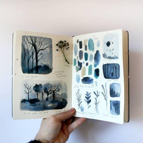 """6,024 Likes, 131 Comments - adolfo serra (@adolfoserra) on Instagram: """"Procesos """"El bosque dentro de mí"""". Book process """"The forest in me"""""""""""
