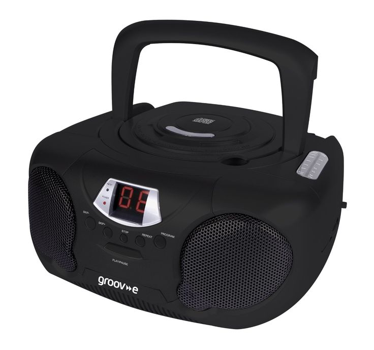 Groov-e GVPS713BK Boombox Portable CD Player with Radio: Amazon.co.uk: Audio & HiFi