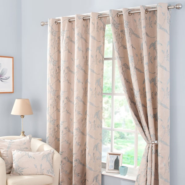 Duck Egg Songbird Lined Eyelet Curtains Home Interiors